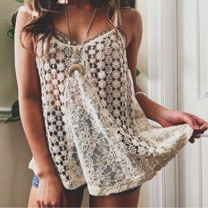 Sun & Shadow Boho Crochet Top